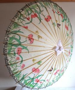 asiatische Sonnenschirme, Sonnenschirm in asiatischem Stil